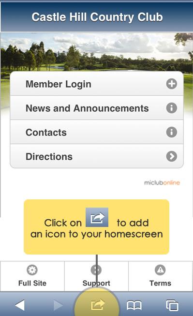 mobile homescreen icon